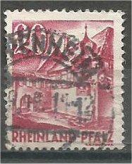 RHINE PALATINATE, 1948, used 20pf, St. Martin Scott 6N35