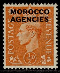 MOROCCO AGENCIES GVI SG94, ½d pale orange, M MINT.