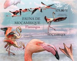 Mozambique MNH S/S Flamingos Birds  2011
