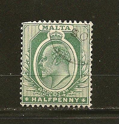 Malta 21 King Edward VII Used