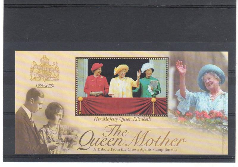 CINDERELLA = 2002 Queen Mother Sheetlet, Crown Agents. No value/Country! MNH.