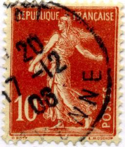 FRANCE - 1906 - Yv.134 10c Semeuse avec SOL obl. TB (17-12)