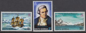 South Georgia 41-3 Captain Cook mnh