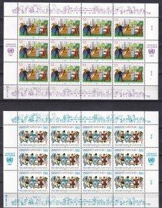 United Nations Vienna #74-5 Sheets Of 12  CV $19.80 (Z5937L)