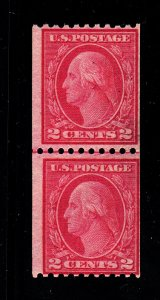 450 Fine OG line pair. Top stamp NH.