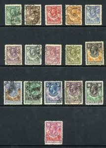 Northern Rhodesia SG1/17 Set to 20/- (no 7/6) cat 695 pounds