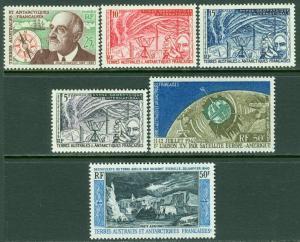 EDW1949SELL : F.S.A.T. 1957-65 Scott #8-10, 21, C5, 7 All VF, Mint NH. Cat $193.