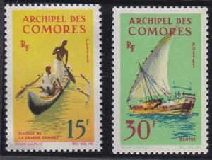 Comoro Islands 61-62 MNH (1964)
