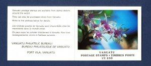 VANJUATU - Scott 325-327 - FVF MNH complete booklet - orchids, flowers - 1982