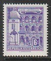 1960 Austria - Sc 629 - MNH VF - 1 single - County seat, Graz