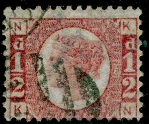 SG49, ½d rose PLATE 13, FINE USED. Cat £25. KN