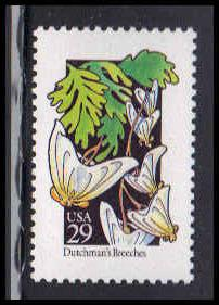 2682 29c Dutchman's Breeches Fine MNH W3710