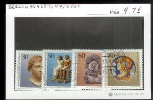 GERMANY BERLIN Sc#9N488-491 USED SET