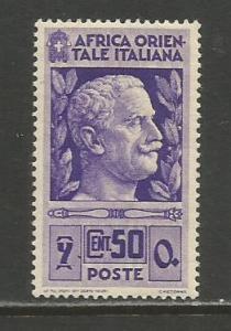 Italian East Africa   #10  MVLH  (1938)  c.v. $2.25