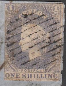 Ceylon #11 F-VF Used CV $225.00 (B3964)