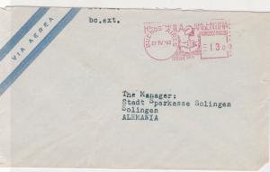 Argentina 1962 Banco de Londres Machine Cancel Airmail Stamps Cover ref R 17612