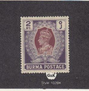 BURMA # 31 VF-MLH KGV 2r CAT VALUE $16