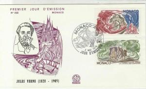Monaco 1978 Celebrating Jules Verne Airballoon Cancel FDC Stamps Cover Ref 26459