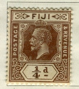 FIJI; 1922-27 early GV issue fine Mint hinged 1/4d. value