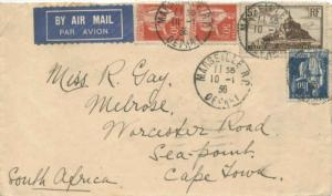France 5F Mont St. Michel and 1.50F and 50c (2) Peace with Olive Branch 1936 ...