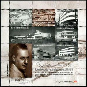 HERRICKSTAMP NEW ISSUES DOMINICAN REPUBLIC Architecture G. Gonzalez Sanchez
