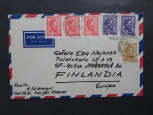 Uruguay 1975 Airmail Cover to Finland - Z8111