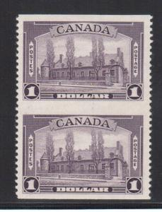 Canada #245a XF/NH Imperforate Pair **With Certificate**
