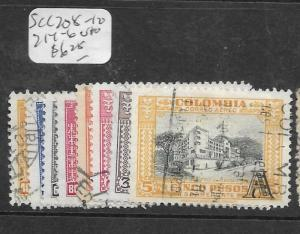 COLOMBIA  (PP1403B)   A/M   OVPT A  SC C208-210, 214-6  VFU