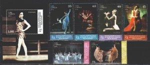 Cuba. 2016. Havana Ballet Festival. MNH.