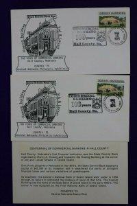 CENEPEX Sta Grand Island NE 1975 100 Yrs Commercial Banking Philatelic Cachet