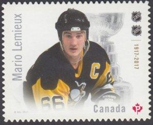 Canada - #3031i  NHL Hockey Star Mario Lemieux, Die Cut Stamp - MNH