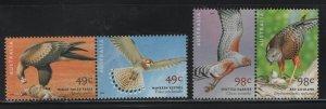 AUSTRALIA, 2003A-2005A, MNH, PAIRS, 2001, BIRDS OF PREY