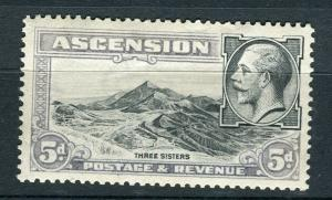 ASCENSION; 1930s early GV MISSING COLOUR VARIETY 5d. mint , Blue Colour Missing
