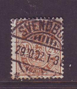 Denmark Sc 49 1901 24 ore coat of arms stamp used