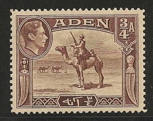 Aden #17 (SG #17) VF MLH - 1939 3/4a Adenese Camel Corps