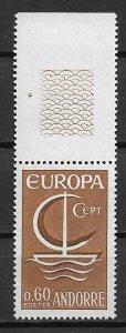 1966 French Andorra 172 Europa  MNH