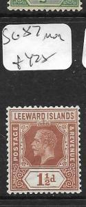 LEEWARD ISLANDS  (PP0105B) KGV  DIE I  1 1/2D  SG  84     MOG
