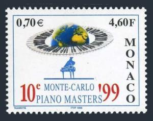 Monaco 2112,MNH. 10th Piano Masters Competition,1999.