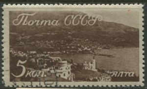 Russia - Scott 666 - Scenic Crimea -1938 - FU - Single 5k Stamp