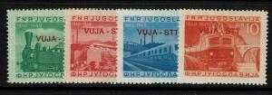Yugoslavia Trieste Zone B SC# 17 - 20 - Mint L. Hinged / Sm H. Rem - Lot 082117