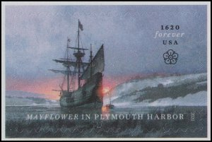 US 5524 Mayflower in Plymouth Harbor forever single (1 stamp) MNH 2020
