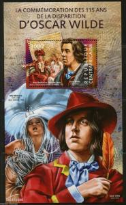 CENTRAL AFRICA 2015 115th MEMORIAL ANNIVERSARY OF OSCAR WILDE S/S MINT  NH