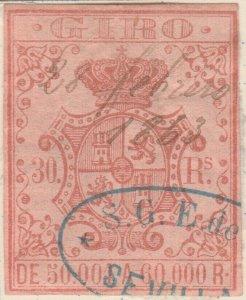 ESPAGNE / SPAIN / ESPAÑA 1861 Sello Fiscal (GIRO) 30 reales - Usado