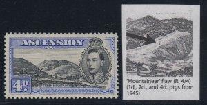 Ascension, SG 42da, MVLH Mountaineer Flaw variety