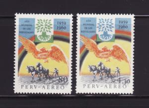 Peru C163-C164 Set MNH World Refugee Year (A)