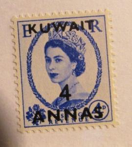 KUWAIT Sc# 125 ** MNH postage stamp 4 Annas QEII fine +