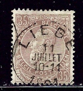 Belgium 57 used 1891 issue
