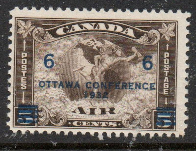 Canada Sc C4 1932 6 c on 5c Ottawa Conference airmail stamp mint
