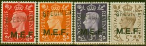 Middle East Forces 1942 SGM1s-M5s Specimen set of 4 Very Fine MNH
