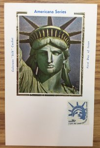 US #1599 Liberty Head (Unused) on Unused First Day of Issue post card